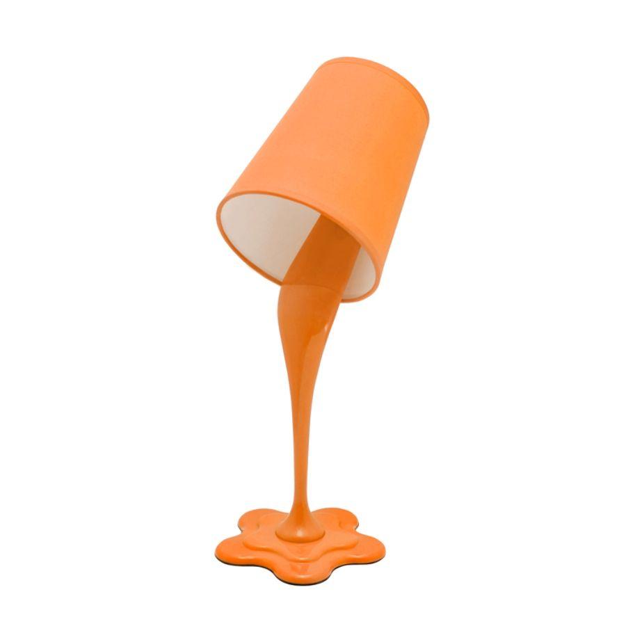 Lumisource Paint Bucket Table Lamp 8 H Orange Shadeorange Base By