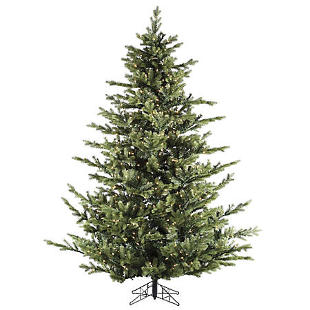 Fraser Hill Farm 7 1/2' Foxtail Pine Artificial Christmas Tree With Smart String Lighting, Green/Black
