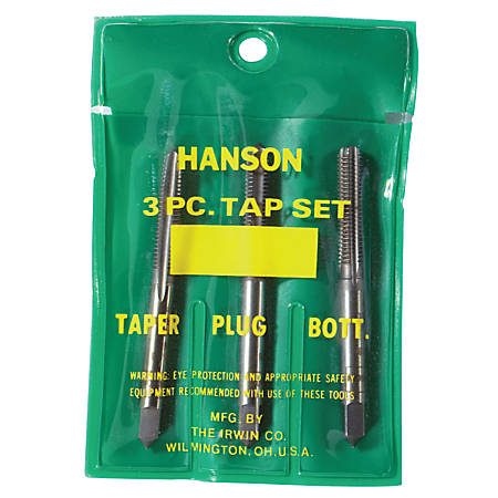 Plastic Pouched Sets, Tapers, Bottoming and Plugs, 3/8 in - 16 NC