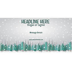 Custom Horizontal Banner Snow Fall