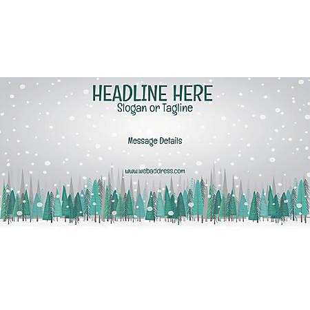 Custom Horizontal Banner, Snow Fall