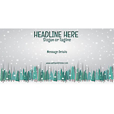 Custom Horizontal Banner Snow Fall