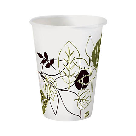 Dixie® Pathways® Paper Hot Cups, Leaves, 8 Oz, Case Of 500