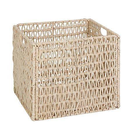 "Honey-Can-Do Folding Basket, 11 5/16""L x 10 7/16""W x 10 7/8""H, Natural"