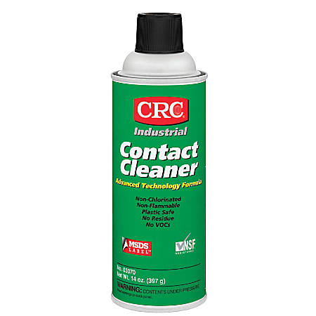 CRC Industrial Contact Cleaner, 16 Oz Aerosol Can, Clear