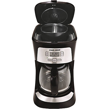 Black + Decker 12-Cup Programmable Coffeemaker, Black, CM2020B