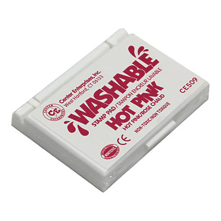 """Center Enterprise Washable Stamp Pads, 2 1/4"""" x 3 3/4"""", Hot Pink, Pack Of 6"""