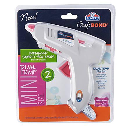Elmer's® CraftBond® 20-Watt Mini Dual-Temp Glue Gun, Gray/Pink