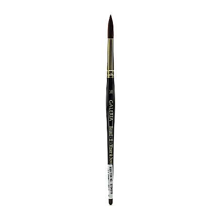 Winsor & Newton Galeria Short-Handle Paint Brush, Size 10, Round Bristle, Polyester, Burgundy