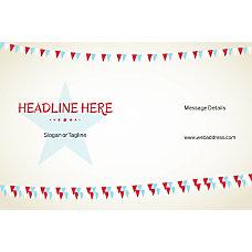 Horizontal Banner Bunting Star