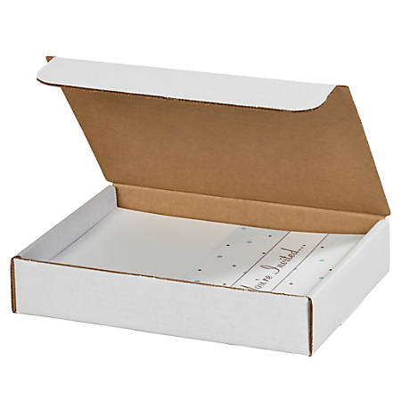 """Office Depot® Brand Literature Mailers, 8"""" x 7"""" x 2"""", White, Pack Of 50"""
