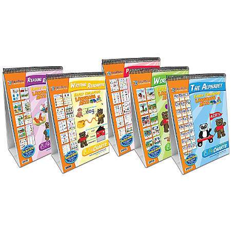 """New Path Learning Early Childhood ELA Readiness Flip Charts, 12"""" x 18"""", Pre-K - Grade 3, Pack Of 5"""
