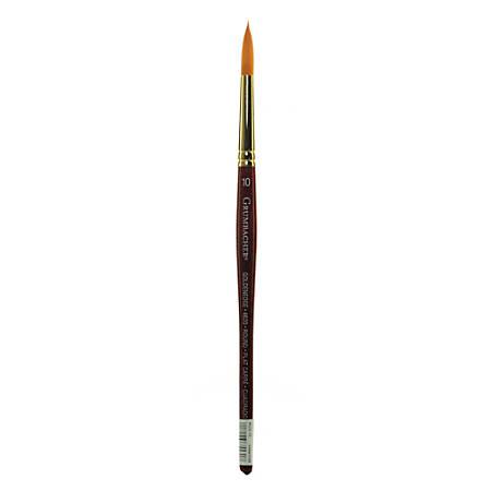 Grumbacher Goldenedge Watercolor Paint Brush, Size 10, Round Bristle, Sable Hair, Dark Red