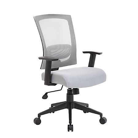 Boss Office Products Mesh-Back Task Chair, Gray/Black