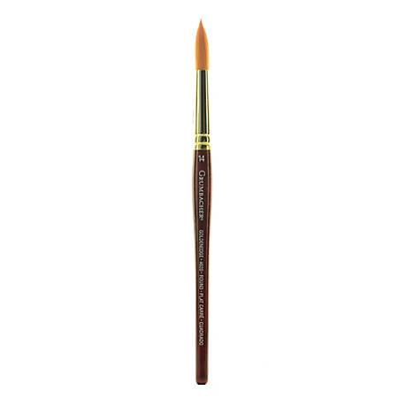 Grumbacher Goldenedge Watercolor Paint Brush, Size 14, Round Bristle, Sable Hair, Dark Red