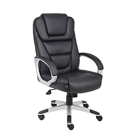 Boss No Tools LeatherPlus Chair, Black