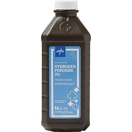 Medline 3 Percent USP Hydrogen Peroxide - For Cut, Skin Abrasion, Burn - 16 oz - 1 Each