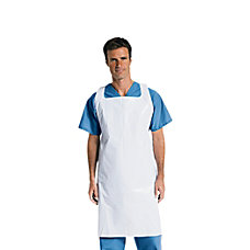 Medline Protective Midweight Polyethylene Disposable Aprons