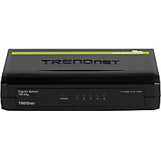 TRENDnet 5 Port Gigabit GREENnet Switch