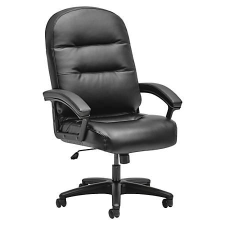 HON® Pillow-Soft High-Back Chair, Black