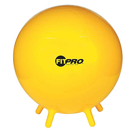 "Champion Sports FitPro Ball With Stability Legs, 25 5/8"", Yellow"