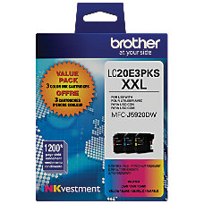 Brother INKvestment LC20E3PKS Extra High Yield