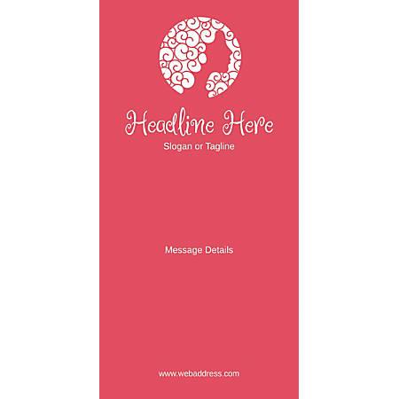 Custom Vertical Banner, Pink Beauty