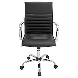 Lumisource Master Leatherette Office Chair BlackChrome