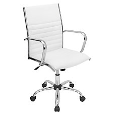 Lumisource Master Leatherette Office Chair WhiteChrome