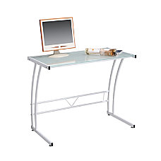 Lumisource Sigma Glass Workstation White