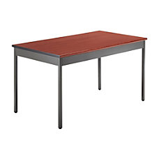 OFM Utility Table Rectangle Cherry