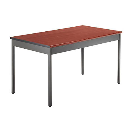 OFM Utility Table, Rectangle, Cherry