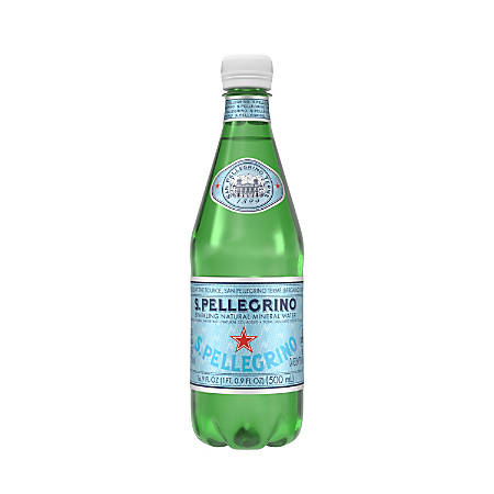 San Pellegrino Sparkling Natural Mineral Water, 16.9 Oz, Pack Of 6 Bottles