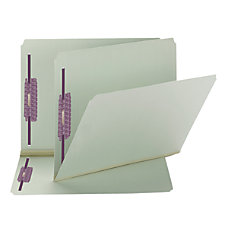 Smead Pressboard Fastener Folders With SafeSHIELD