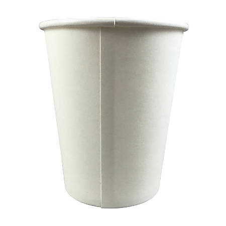 Hotel Emporium Paper Cups, 8 Oz, White, Case Of 1,000 Cups