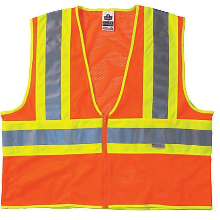 GloWear 8230Z Class 2 Two-Tone Vests, S/M, Orange