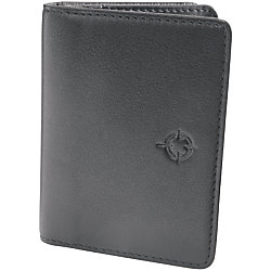Franklincovey leather business card wallet black by office for Franklin covey business card holder