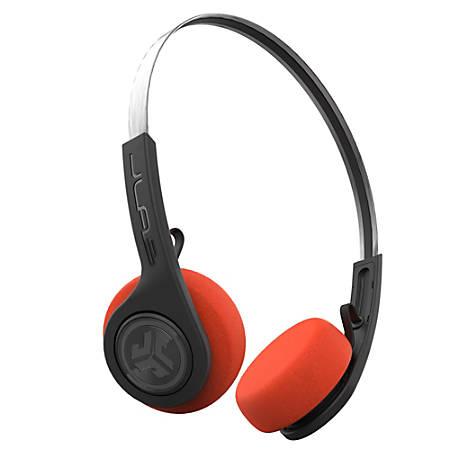 JLab Audio Rewind Retro Wireless On-Ear Headphones, HBREWINDRBLK4