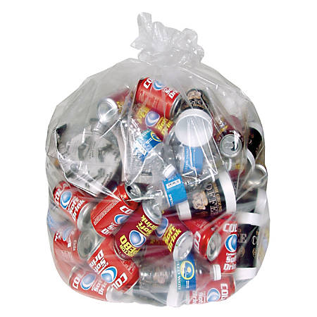 Pitt Plastics Industrial Quality 2-mil Can Liners, 60 Gallons, Clear, Pack Of 100