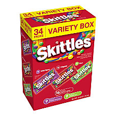 Skittles Variety Pack Box Of 34