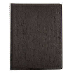 """Blueline® EcoLogix™ 95% Recycled Wirebound Notebook, 8 1/2"""" x 11"""", 1 Subject, College Ruled, 80 Sheets, Black"""