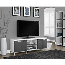 Monarch Specialties 2 Tone TV Stand