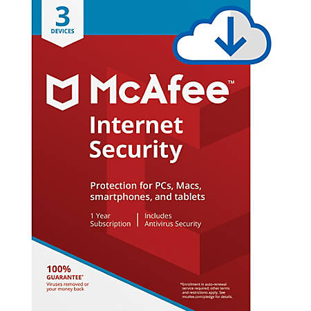 McAfee® Internet Security, For 3 PC And Apple® Mac® Devices, Download
