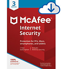 McAfee Internet Security For 3 Devices