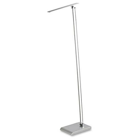 Safco LED Light Floor Lamp - LED - 480 Lumens - Silver - Floor-mountable