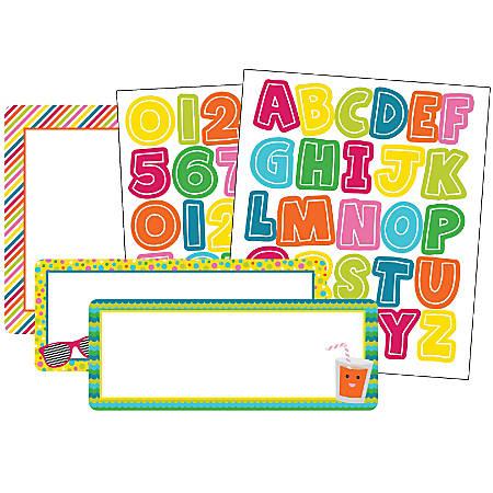 Carson-Dellosa Colorful Chalkboard Variety Sticker Pack, School Pop, Multicolor, Pack Of 197