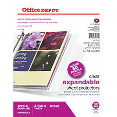 Office Depot Brand Expandable Sheet Protectors