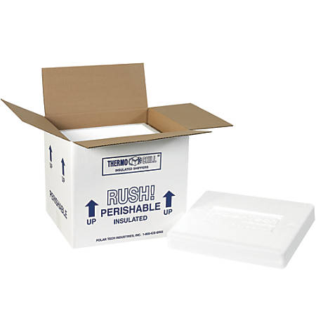 """Office Depot® Brand Insulated Shipping Kits, 9 1/4""""H x 8 1/4""""W x 10 1/2""""D, White, Case Of 2"""