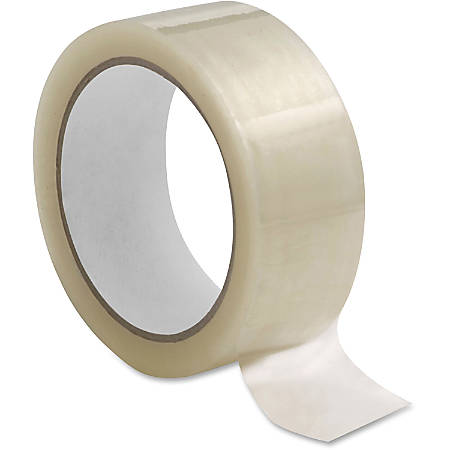 """Sparco 1.6mil Hot-melt Sealing Tape - 2"""" Width x 110 yd Length - Long Lasting, Easy Unwind - 36 / Carton - Clear"""