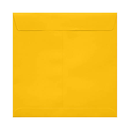 """LUX Square Envelopes With Peel & Press Closure, 7 1/2"""" x 7 1/2"""", Sunflower Yellow, Pack Of 50"""